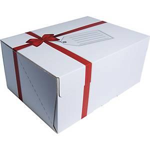 Boîte avec impression cadeau noeud