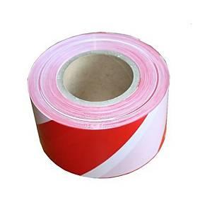 Nelepiaca vytyčovacia páska Stepa®, 80 mm x 200 m, bielo-červená
