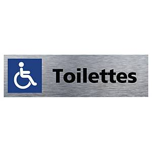 EFORUM DISABLED WC SIGN ALU 170X50MM