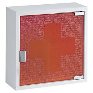 Armoire à pharmacie - petit modèle - blanc/rouge