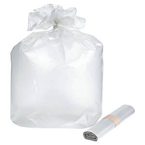Sac poubelle NF - 100 L - 35 microns - transparent - 200 sacs