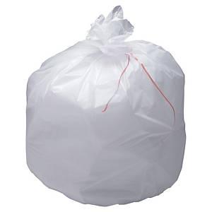 Sac poubelle pour déchets lourds - 110 L - 37 microns - blanc - 100 sacs