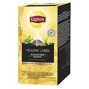 Lipton Exclusive Selection Yellow Label thee, doos van 25 theezakjes
