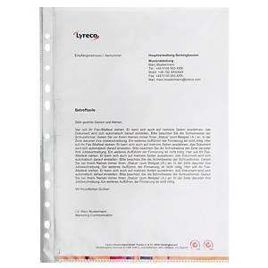 Prospekthüllen A4, PP, Stärke: 0,06mm, oben + Lochseite offen, glasklar, 100St