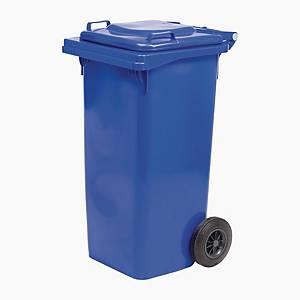 Bidone per rifiuti con ruote Quadro ICS 240 L blu