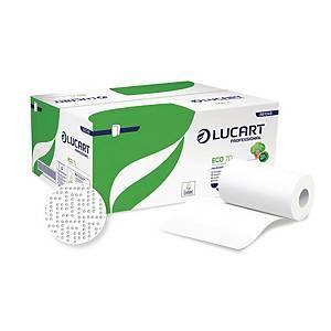 Asciugamani in rotolo Lucart Econatural Eco70 bianco - conf. 12