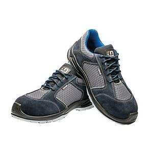 Sapatos de proteção Mendi Ícaro S1P - cinzento/azul - tamanho 44