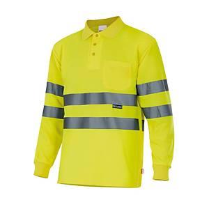 Polo de manga comprida alta visibilidade Velilla 174 - amarelo - tamanho M