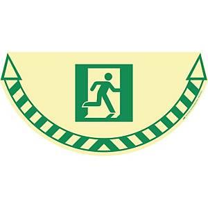 Gulvmærkat CEP Industries, nødudgang, lysegul