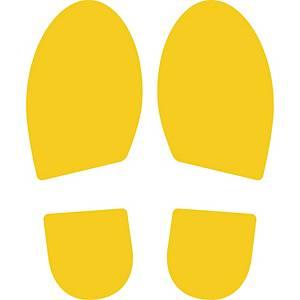 Klistermærke fodaftryk CEP, gul