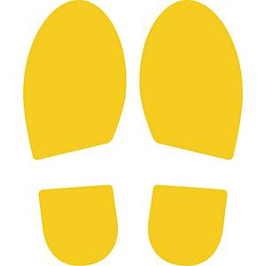 CEP STICKER ADHESIVE FOOTPRINTS YELLOW