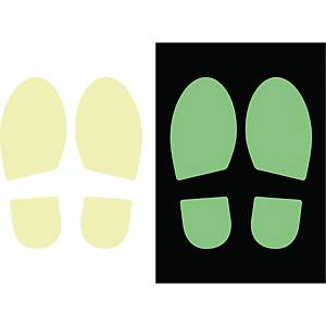 Klistermærke fodaftryk CEP, photoluminescent