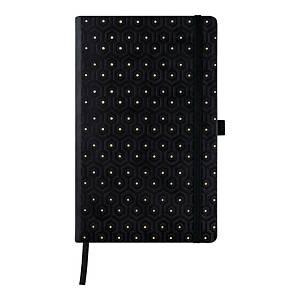 Kalendarz CASTELLI Black&Gold A5, tygodniowy, Honeycomb
