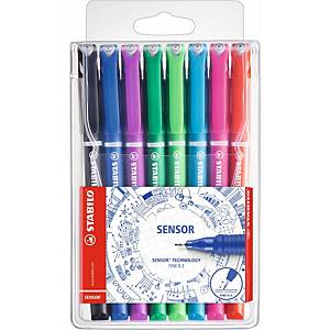 Stabilo Sensor Fineliner Assorted Pack of 8