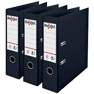 Rexel Choices A4 PP No.1 Lever Arch File 75mm Spine, Black
