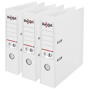 Rexel Choices A4 PP No.1 Lever Arch File 75mm, Spine, White