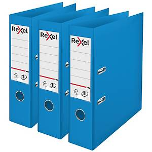 Rexel Choices A4 PP No.1 Lever Arch File 75mm, Spine, Blue