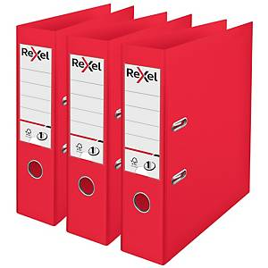 Rexel Choices A4 PP No.1 Lever Arch File 75mm, Spine, Red