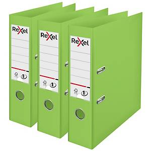 Rexel Choices A4 PP No.1 Lever Arch File 75mm, Spine, Green