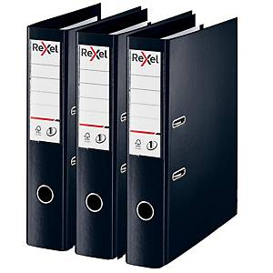 Rexel Choices Foolscap PP No.1 Lever Arch File 75mm, Spine Black