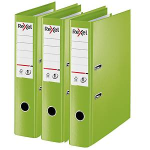Rexel Choices Foolscap PP No.1 Lever Arch File 75mm, Spine, Green