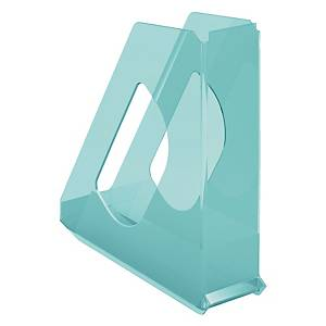 Portariviste Color Ice Esselte polistirene dorso 7,2 cm blu trasparente