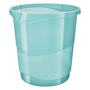 Cestino Esselte Color Ice polistirene 14 L blu trasparente