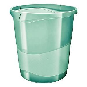 Cestino Esselte Color Ice polistirene 14 L verde trasparente