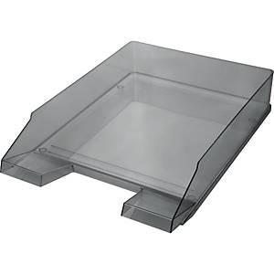 Briefkorb Helit H23615, stapelbar, Maße: 245 x 347 x 67mm, transparent grau