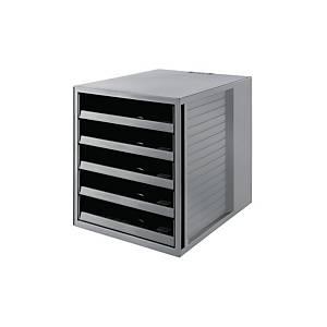 Schubladenbox HAN 14018, Karma, 5 Schubladen, öko-grau