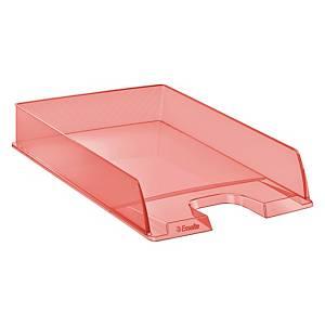 Vaschetta portacorrispondenza Esselte Color Ice polistirene albicocca trasparent