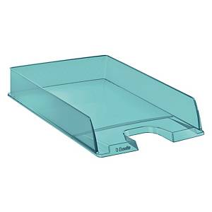 Vaschetta portacorrispondenza Esselte Color Ice polistirene blu trasparente