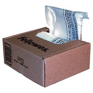Påse till dokumentförstörare Fellowes, plast, 23-28 L, förp. med 100 st.