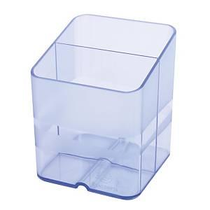 Pot à crayons Exacompta avec 2 compartiments, bleu glacier
