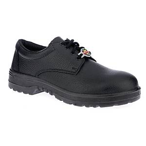 WARRIOR 7198 SAFETY SHOE PU SOLE 43 BLACK