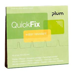 Recharge pansements QuickFix, waterproof, paquet de 45