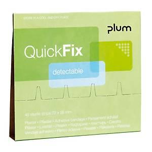 Recharge pansements QuickFix, détectables, paquet de 45