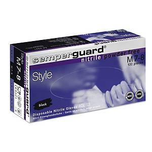 Einweghandschuhe Semperguard Style Nitril, Gr. M, Packung à 100 Stück
