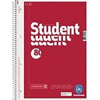 Collegeblock Brunnen 106783201, A4, kariert, 70g, 4fach gelocht, 80 Blatt