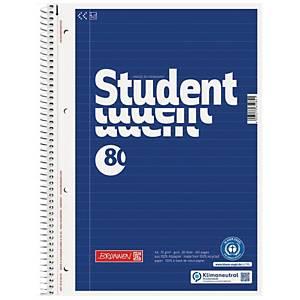 Collegeblock Brunnen 6783101, A4, liniert, 70g, 4fach gelocht, 80 Blatt