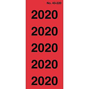 Jahressignal Avery Zweckform 43-2020, Jahr: 2020, rot, 100 Stück