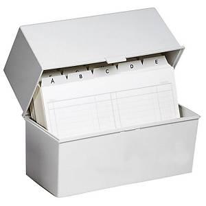 Kartotéka Exacompta na indexové kartičky A7, šedá