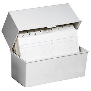 EXACOMPTA CARD INDEX BOX A7 LIGHT GREY