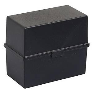 EXACOMPTA CARD INDEX BOX A5 BLACK