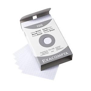 Exacompta A7-es kartotéklapok, négyzethálós