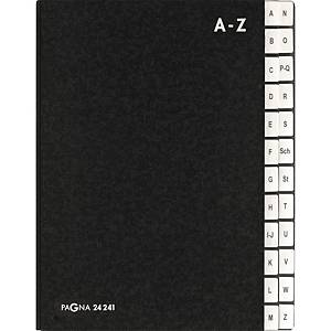 Pultordner Pagna 24241, Tabs A-Z, Einband aus Hartpappe, schwarz