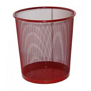 SaKOTA Papierkorb aus Drahtmetall, 18 l, rot