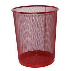 SaKOTA Papierkorb aus Drahtmetall 10 l, rot
