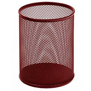SAKOTA MESH PEN HOLDER 80X90MM RED