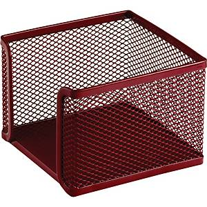 SAKOTA MESH NOTE BOX 105X105X80MM RED